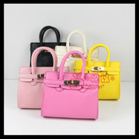 Hangbags Candy color Fashion Hot Candy Color Fashion Baby tote bag Women mini Designer Bags Girls Shoulder Bag Children Handbag Purses Kids PU leather Handbags KW-BA056