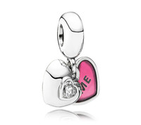 Metals sterling silver beads - Authentic Sterling Silver ME amp YOU Pendant Bead with Heart Cz Fits European Pandora Jewelry Charm Beads Bracelets