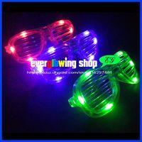 Wholesale modes colors shutter shape led glasses flashing glasses led eyeglasses for party dance christmas