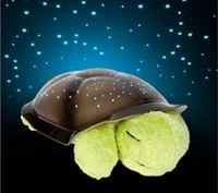 32 * 19 * 10 cm tortuga tortuga crepúsculo noche la luz de la lámpara Stars cuidado del bebé de la noche tortuga luz con música de los juguetes de la felpa