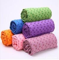 Wholesale anti skid mircrofiber yoga towel x63cm Eco friendly yoga mat colour piece