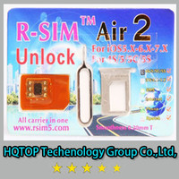 Wholesale HQTOP Original R SIM air RSIM air rsim Air2 Unlock for iphone S C S G iOS6 X X Support iOS7 x Sprint AT amp T T mobile