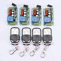 Wholesale FreeShipping AC V CH A Remote Control Switch Receiver Transmitter Learning Code Momentary Toggle Latched adjusted