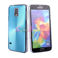 Wholesale For Galaxy S5 i9600 Case High Quality CD Aluminium Hard Back Clear PC Bumper Case Cover for Galaxy S5 S i9600