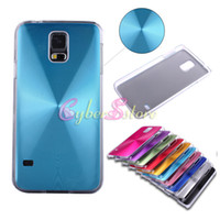 Wholesale For Galaxy S5 i9600 Case Luxury CD Aluminium Hard Back Clear PC Bumper Case Cover for Galaxy S5 S i9600