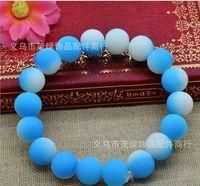 Wholesale 2014 Hot Color Beads handcraft jewelry Bracelet fluorescence Disco Shamballa Ball stand stretch bracelets
