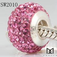 Wholesale 925 Sterling Silver threaded pipe drill pearl import Austria diamond drill Bead Fashion Jewelry
