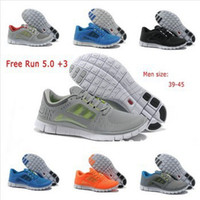 Wholesale 2014Cheap Men s Free Run Running Shoes Brand Lightweight Breathable Tennis Shoes Barefoot Sports Shoes Colors