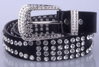 western rhinestone belts - 1404c real leather women belt Christmas lady genuine leather fashion western crystal leather rhinestone belt