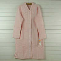 LZ Autumn and winter coral fleece front button long-sleeve nightgown