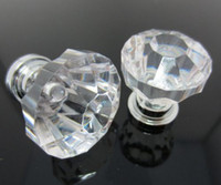 Wholesale Fashion Hot Clear Crystal Knob Cabinet Pull Handle Drawer Kitchen Door Wardrobe Hardware