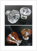 Wholesale Clear Crystal Knob Cabinet Pull Handle Drawer Kitchen Door Wardrobe Hardware