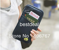 Wholesale DHL Paper bag zero wallet multi purpose hand bag passport bag id wallet colors