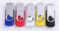 Wholesale 200pcs GB GB Swivel USB Flash Drive mini gift with Free Custom Logo for Exhibition Promotion or Gift