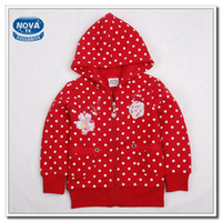 Cheap Baby Girl Jacket Children Outerwear Kids Spring Autumn Clothing Girl Lovely Coat Polka Dot Printing Jacket For Girl Cute Clothes (F2886)
