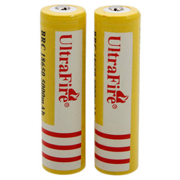 Wholesale US Seller Ship From USA set Ultra Fire V mAH Lithium Battery Yellow