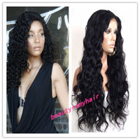 Wholesale Super Sale Malaysian Deep Full Lace Wig natural straight Human Hair Great Swiss Lace by DHL