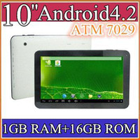 Wholesale 2014 quot Android Quad Core tablet pc ATM7029 Dual Camera tablets with Bluetooth Capacitive Touch GB GB