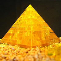 Wholesale Gold Blue D Puzzle Crystal Puzzle DIY Pyramid Building Egypt Famous Historical Building with retail box gift for child
