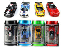 Wholesale Mini Racer Remote Control Car Coke Can Mini RC Radio Remote Control Micro Racing Car DHL Shipping