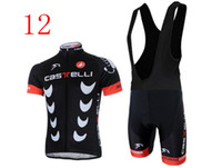 Wholesale 2014 new short sleeve and cycling bib short cycling Clothes CASTELLI team red lightweight cycling team jersey bike suit All kind of Castelli