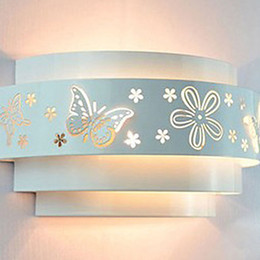 Minimalist Modern Fashion Butterfly Flower Beside Led Wall Light Lamp For Home Decoration wall Sconces Light Fixtures