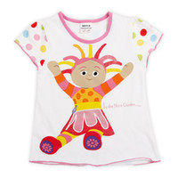Wholesale New Girls T shirt With In The Night Garden Cartoon Character Embroidery Short Sleeve For Summer Tops Casual T shirt Nova Brand K879