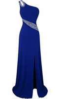 DRESS beaded yarn - Angel fashions New Arrival Single Shoulder Beaded Furcal Intermingle Yarn Full Length Party Gowns Prom Dresses