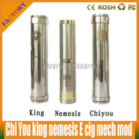 stainless Metal  Top quality electronic cigarette chi You mod king mod nemesis mod of stainless steel,brass Material ego 510 thread 2014 hottest selling DHL