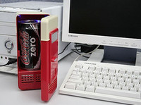 Wholesale Fashion Cool Mini USB PC Fridge Refrigerator Freezers Beverage Drink Cans Cooler Warmer Heater Car USB Gadget in Design