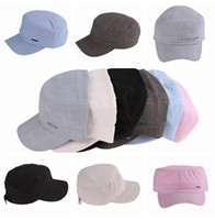 Wholesale Multi Color Solid Unisex Cotton Thin Casual Trucker Military Cadet Army Hat Baseball Cap Sun Sport Ball Caps Adjustable EAC