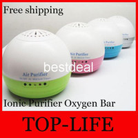 Wholesale 8007 Portable Mini White Auto Car home Fresh Air negative Ionic Purifier Oxygen Bar Ozone Ionizer Cleaner