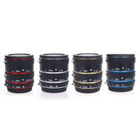 Wholesale Colorful Metal TTL Auto Focus AF Macro Extension Tube Ring for Canon EOS EF EF S D D D II D D928