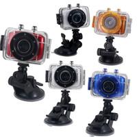 Wholesale Portable Sports DVR Helmet Waterproof Camera HD Action Camera Sport Outdoor Camcorder DV P Digital Video Cameras Free Ship