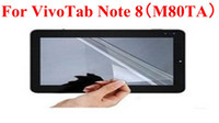 For ASUS asus tablet camera - MOQ Clear LCD Screen Protector Film Guard For ASUS VivoTab Note M80TA Tablet PC With Camera Hole With Cleaning Cloth Retail Package
