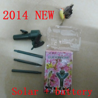 Plastic PVC hummingbirds solar flying - Solar hummingbird hummingbirds garden toys Solar bird Emulation bird Fly educational toy solar battery GIFT New Garden Decorations