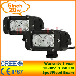 Wholesale 5 quot W Cree LED Light Bar Work Lamp Tractor Boat Off Road WD x4 v v Truck Trailer Jeep SUV ATV LarcoLais