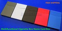 Wholesale Small Aluminum Alloy Rifle Ultra thin Yanhe Automatic Cigarette Case Multifunctional Card Stock