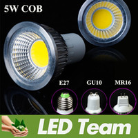 Spotlight LED 5W Factory Selling 5W 450LM Cob Led Lamp Bulb 110-240V 12V Warm White Nature White 4000K Cool White 6000K Led Recessed Spotlight CE ROHS UL CSA