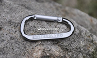 Wholesale mm Silver Carabiner Camping Snap Clip Hiking Hook Sports Karabiner Keychains Outdoor camping tool K101