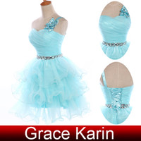 Charming Organze Ruffle Ball Gown Cocktail Dresses One Shoul...