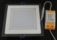 No 110-240V 2830 6W 12W 18W square glass led ceiling down lamp panel recessed down lights AC110-240V for indoor home hotel lighting