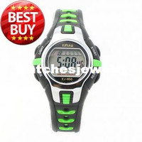 Wholesale Hot Xinjia Led Sports Water Resistant Movement Digital wristwatch Watch with Plastic Strap Light Green