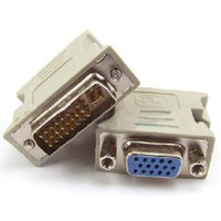 Wholesale DVI DVI I M Pin to VGA VIDEO CONVERTER ADAPTER