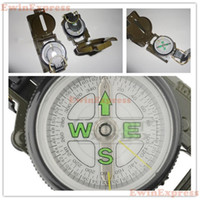 Wholesale 2 X New in1 Military Style Camping Army SIGHTING Lensatic Compass For Hiking Travel Outdoor Sport Retail