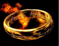 Band Rings lord of the ring - Special Offer The One Ring Gold Color From The Lord Of Kings Size CS R4