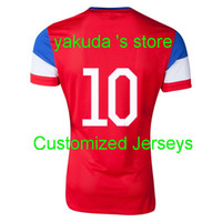 Customzied Thai Quality USA World Cup 2014 Away Soccer Jerse...