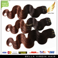 Brazilian Hair Body Wave T #1B/#4 color Ombre Hair Brazilian Hair Extensions Body Wave Wavy Human Hair Weft Hot Sale Products 14''~30'' 3pcs lot Remy Hair Weaves DHL Free Shipping