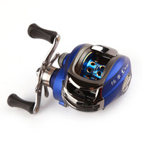 Wholesale New Baitcasting Reel BB Left Right Hand Bait Casting Fishing Reel Ball Bearings One way Clutch High Speed Blue H9702