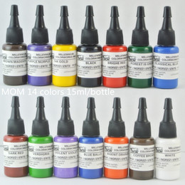 Complete set of Top 14 Colors 1 2 oz Tattoo Ink Pigment Tattoo Colors Kits